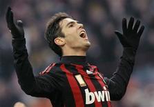 <p>Kaká, do Milan, durante partida contra o Catania pelo campeonato italiano. Kaká pode retornar ao Milan contra Udinese. REUTERS/Alessandro Garofalo</p>