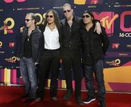 """<p>Foto de archivo deel gurpo Metallica durante los premios MTV latinoamérica en Guadalajara, México, 16 oct 2008. Metallica confirmó """"el secreto peor guardado del rock"""" y reveló los detalles del próximo juego de """"Guitar Hero"""" dedicado a la banda. REUTERS/Hector Guerreo</p>"""