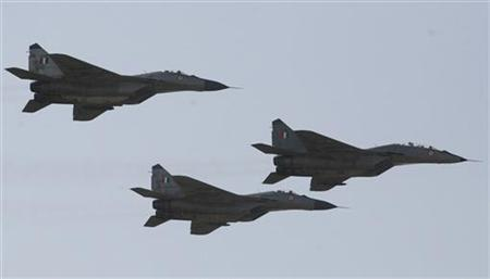 Indian air force MIG-29 jets in a file photo. REUTERS/Amit Dave
