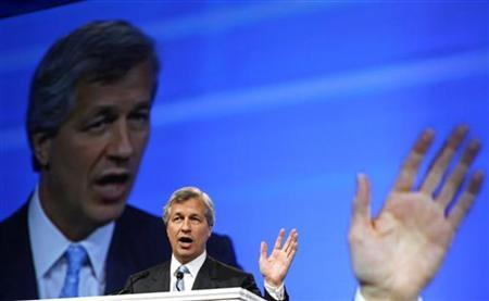 JPMorgan Chase & Co. Chairman and Chief Executive Officer Jamie Dimon speaks at the 50th annual Investment Company Institute (ICI) general membership meeting in Washington in this May 8, 2008 file photo. REUTERS/Kevin Lamarque