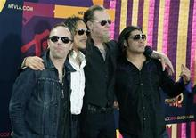 <p>Rock band Metallica arrive for the MTV Latin America Awards in Guadalajara, October 16, 2008. REUTERS/Hector Guerreo</p>