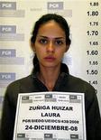 <p>Laura Zúñiga Huizar, la actual Miss Sinaloa, es vista en esta fotografía publicada el 26 de diciembre del 2008. Una reina de belleza mexicana arrestada en compañía de supuestos traficantes de drogas fuertemente armados fue despojada de su título de Reina Hispanoamericana, dijeron el sábado los organizadores del concurso en Bolivia a medios locales. REUTERS/oficina del Fiscal General/ (MEXICO)</p>