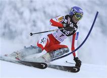 <p>Nicole Gius durante lo slalom a Zagabria. REUTERS/Srdjan Zivulovic</p>