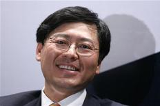 <p>Il presidente di Lenovo Yang Yuanqing. REUTERS/Aly Song</p>