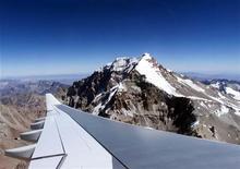 <p>Una veduta del monte Aconcagua, al confine tra Argentina e Cile. REUTERS</p>