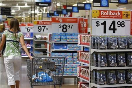 A customer shops at a Wal-Mart Supercenter in Rogers, Arkansas, June 5, 2008. REUTERS/Jessica Rinaldi