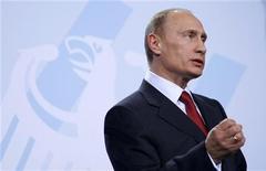 <p>Il premier russo Vladimir Putin. REUTERS/Johannes Eisele</p>