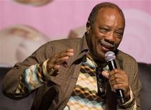 <p>Quincy Jones in un'immagine d'archivio dello scorso luglio. REUTERS/Valentin Flauraud</p>