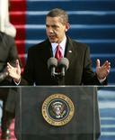 <p>Les autorités chinoises ont justifié jeudi, en invoquant les droits éditoriaux, la censure par la télévision publique et sur des sites internet chinois de passages du discours d'investiture de Barack Obama évoquant le communisme et la dissidence. /Photo prise le 20 janvier 2009/REUTERS/Jason Reed</p>