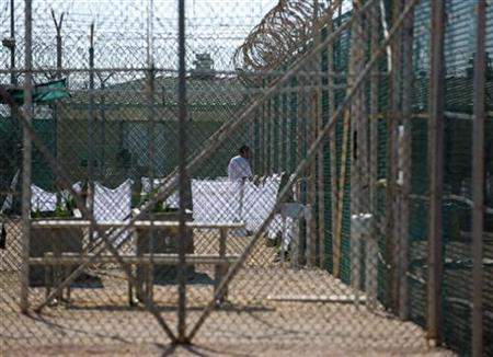 An image reviewed by the U.S. military shows an unidentified detainee at the ''Camp Four'' detention facility at Guantanamo Bay, December 10, 2008. REUTERS/Mandel Ngan/Pool