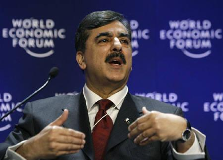 Pakistan's Prime Minister Yousaf Raza Gilani is seen during a session at the World Economic Forum (WEF) in Davos in this January 29, 2009 file photo. Pakistan will publish findings of its investigation into November's militant attacks in Mumbai early next week, Gilani said on Friday. REUTERS/Denis Balibouse/Files