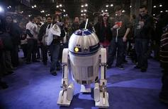 "<p>The character R2-D2 from the movie ""Star Wars"" is photographed at the New York Comic Con February 7, 2009. REUTERS/Allison Joyce</p>"
