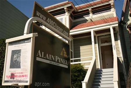 A home for sale in the Noe Valley neighborhood is seen in San Francisco, California February 3, 2009. REUTERS/Robert Galbraith