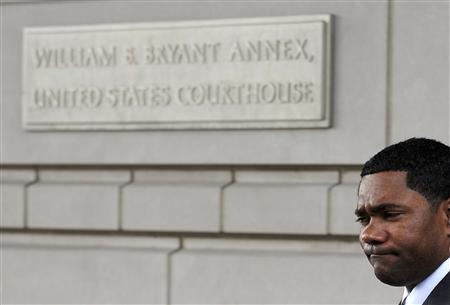 Former American League MVP Miguel Tejada departs a federal courthouse in Washington, February 11, 2009. REUTERS/Jonathan Ernst