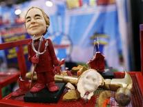 <p>A Bernie Madoff action figure made by the toy company ModelWorks is displayed at the American International Toy Fair in New York February 17, 2009. REUTERS/Shannon Stapleton</p>