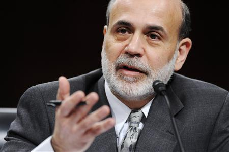US Federal Reserve Chairman Ben Bernanke testifies before the Senate Banking, Housing and Urban Affairs Committee on Capitol Hill in Washington, February 24, 2009. REUTERS/Jonathan Ernst (UNITED STATES)