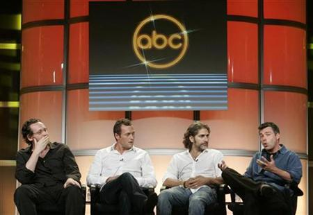 The cast and executive producers of the new series ''Life On Mars'' (L-R) executive producer Josh Appelbaum, Irish born actor Jason O'Mara, actor Michael Imperioli and executive producer Andre Nemec take part in a panel discussion at the Disney ABC Television Group summer press tour in Beverly Hills, California July 16, 2008. REUTERS/Fred Prouser