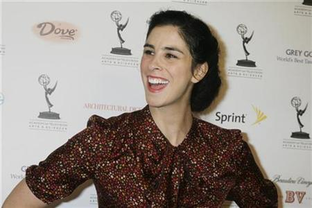 Actress Sarah Silverman, nominated for her performance in the series ''Monk'', poses at the Academy of Television Arts & Sciences Primetime Emmy Awards Nominees for Outstanding Performance reception in Los Angeles, California September 19, 2008. REUTERS/Fred Prouser
