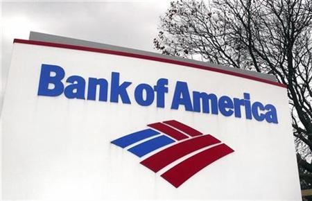 A Bank of America sign is seen in the Northern Virginia town of Leesburg, January 18, 2009. REUTERS/Larry Downing