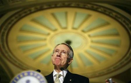 Senate Majority leader Harry Reid speaks on Capitol Hill in Washington February 3, 2009. REUTERS/Jim Young