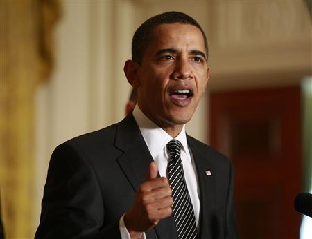 U.S. President Barack Obama delivers remarks at the White House forum on health reform in Washington, March 5, 2009. REUTERS/Jason Reed