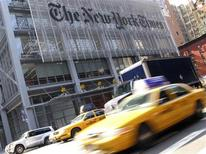<p>The headquarters of the New York Times is pictured on 8th Avenue in New York April 30, 2008. REUTERS/Gary Hershorn</p>