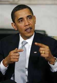 U.S. President Barack Obama speaks after receiving his economic daily briefing with Treasury Secretary Tim Geithner in the Oval Office of the White House in Washington March 11, 2009. REUTERS/Kevin Lamarque