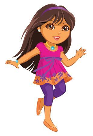 An illustration of the new Dora doll is shown in this undated handout image. REUTERS/Mattel/Nickelodeon/Handout