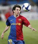 <p>Argentino Lionel Messi em partida do Barcelona contra o Almería, pelo Campeonato Espanhol. 15/03/2009. REUTERS/Francisco Bonilla</p>