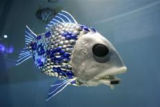 <p>Des scientifiques britanniques ont mis au point cinq poissons-robots bardés de capteurs, destinés à détecter les produits polluants. Ces appareils seront mis à l'eau l'année prochaine au large de Gijon, dans le nord de l'Espagne, pour un premier essai. /Photo diffusée le 20 mars 2009/REUTERS/Jonas Borg/UPPA/Photoshot</p>