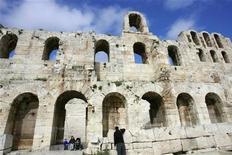 <p>Una parte dell'Acropoli di Atene. REUTERS/John Kolesidis</p>