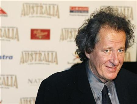 Actor Geoffrey Rush poses on the red carpet at the world premiere of the film ''Australia'' in Sydney, November 18, 2008. REUTERS/Tim Wimborne