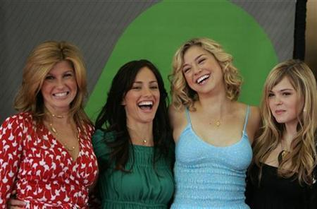 Stars of the NBC show ''Friday Night Lights'', (from L-R) Connie Britton, Minka Kelly, Adrianne Palicki and Aimee Teegarden, arrive to attend the NBC Network upfronts in New York May 14, 2007. REUTERS/Lucas Jackson