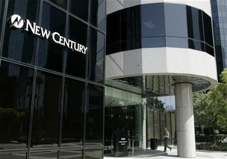 A man walks into the entrance to the corporate headquarters of New Century Financial Corporation in Irvine,California March 15, 2007. REUTERS/Fred Prouser
