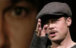 """<p>U.S. actor Brad Pitt attends a news conference for his film """"The Curious Case of Benjamin Button"""" in Tokyo January 28, 2009. REUTERS/Toru Hanai</p>"""