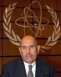 <p>Гендиректор Международного агентства по атомной энергии (МАГАТЭ) Мохаммед аль-Барадей на заседании организации в Вене 8 сентября 2003 года. Инспекторы МАГАТЭ в четверг покинули Пхеньян по приказу властей Северной Кореи, сообщает японское агентство новостей Kyodo. REUTERS/Heinz-Peter Bader</p>