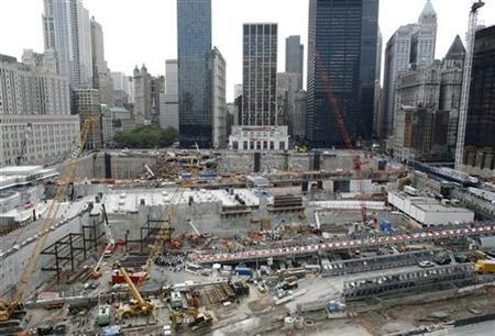 The World Trade Center site is shown on September 11, 2008. REUTERS/Gary Hershorn