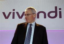<p>Selon Jean-Bernard Lévy, président du directoire de Vivendi, le groupe français suit le dossier Digital+ mais les conditions ne sont pas réunies aujourd'hui pour un investissement dans la plate-forme de télévision payante espagnole. /Photo prise le 2 mars 2009/REUTERS/Charles Platiau</p>