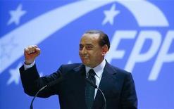 <p>Il premier Silvio Berlusconi lo scorso 29 aprile a Varsavia, per il congresso del Partito Popolare europeo. REUTERS/Kacper Pempel</p>