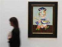 """<p>Il dipinto di Picasso """"La Fille de l'artiste a deux ans et demi avec un bateau"""" rimasto invenduto ieri all'asta. REUTERS/Andrew Winning</p>"""