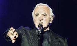 <p>French singer Charles Aznavour performs during the Quebec Summer Festival July 6, 2008. REUTERS/Mathieu Belanger</p>