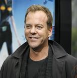 """<p>Foto de arquivo do ator Kiefer Sutherland, que cede sua voz ao General W.R. Monger no desenho animado """"Monstros e Alienígenas"""". 22/03/2009. REUTERS/Mario Anzuoni</p>"""