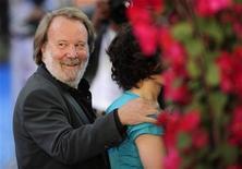 """<p>Benny Andersson, ex integrante del grupo sueco ABBA, durante la presentación del filme """"Mamma Mia"""" en Londres, 30 jun 2008. Andersson y Bjorn Ulvaeus, las mentes musicales detrás del importante grupo pop de la década de 1970 ABBA, volvieron a componer juntos por primera vez en 15 años. REUTERS/Dylan Martinez</p>"""