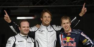 <p>O líder do campeonato Jenson Button, da Brawn GP, superou o alemão Sebastian Vettel, da Red Bull, e conquistou neste sábado a pole position no último momento para o GP da Espanha de Fórmula 1. REUTERS/Dani Cardona</p>