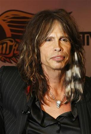 Aerosmith's Steven Tyler attends a press conference for the new video game ''Guitar Hero: Aerosmith'' in New York, June 27, 2008. REUTERS/Lucas Jackson