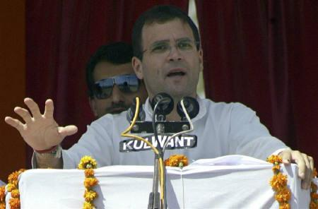 Rahul Gandhi speaks during an election campaign rally in Amritsar in this May 11, 2009 file photo. REUTERS/Munish Sharma
