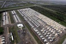 <p>Trailers from the Federal Emergency Management Agency (FEMA) sit in a lot in Diamond, Louisiana, south of New Orleans July 26, 2006. REUTERS/Lee Celano</p>