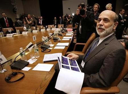 Federal Reserve Chairman Ben Bernanke attends the International Monetary and Financial Committee (IMFC) meeting at IMF headquarters in Washington in Washington April 25, 2009. REUTERS/Yuri Gripas