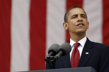 5月25日、オバマ米大統領は韓国の李明博大統領に対し、韓国防衛に対する米政府の「絶対的コミットメント」を保証(2009年 ロイター/Jonathan Ernst)