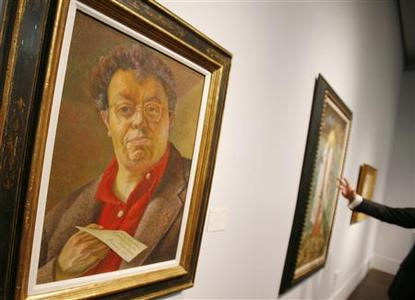 A self-portrait of Diego Rivera is seen during Christie's Latin America Sale press preview in New York May 26, 2009. REUTERS/Shannon Stapleton